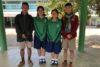 Motivierte SchülerInnen, von links: Sudarat, Chali, Jesada, Udom, Meta. Sie werden von der CSI-Projektpartnerin eng begleitet. (csi)