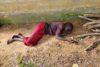 Diese junge Frau konnte sich vor Hunger nicht mehr auf den Beinen halten. Franco Majok konnte ihr kalten Tee einflössen und damit wohl ihr Leben retten (csi)